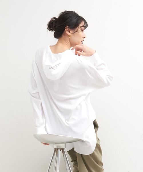 【Verseau】フーディロングTシャツ