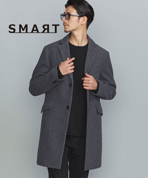 【WEB限定 WARDROBE SMART】by PE メルトン チェスター コート