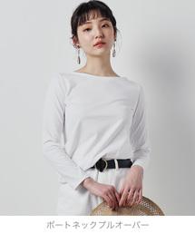ZOZO(ゾゾ)の9分袖ボートネックプルオーバー(パターンオーダー)/ホワイト[WOMEN](Tシャツ/カットソー)