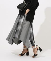 AZUL BY MOUSSY(アズールバイマウジー)のCRAZY PATTERN CHECK SKIRT クレイジーパターンチェックスカート(スカート)