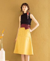 REDYAZEL(レディアゼル)の配色コルセットベルト付きフレアスカート(スカート)