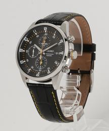 SEIKO セイコー クロノグラフ レザーベルト クォーツ 腕時計 SNDC87P2 SNDC89P2(腕時計)
