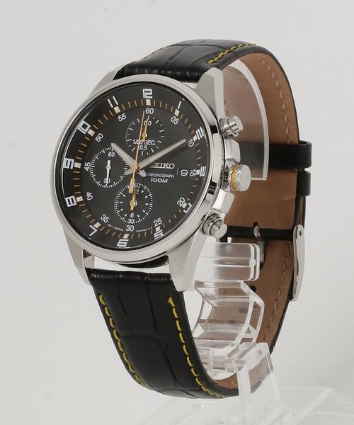 人気が高い  SEIKO セイコー / クロノグラフ レザーベルト クォーツ 腕時計 SNDC87P2 SNDC89P2, NATURAL SLEEP LABO 33829c85