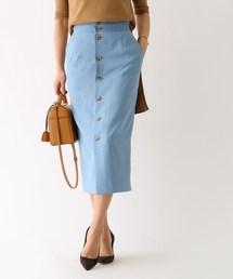 aquagirl(アクアガール)のスリムコンシャスフロントボタンスカート(スカート)