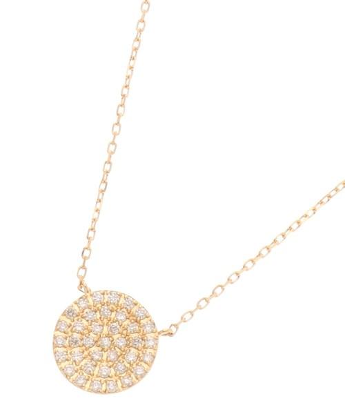 【同梱不可】 K18ダイヤモンド ONLINE ラウンドパヴェ ネックレス(大)(ネックレス)|COCOSHNIK(ココシュニック)のファッション通販, ミサトシ:9b0d317c --- fahrservice-fischer.de