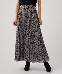 AZUL BY MOUSSY(アズールバイマウジー)のLEOPARD PLEATS FLARED SKIRT/レオパードプリーツフレアスカート(スカート)