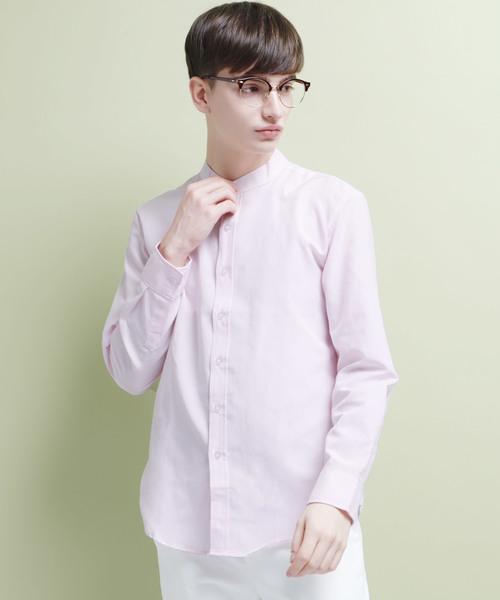 オックスフォードバンドカラーシャツ Plain/Chambray