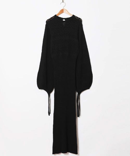 KNIT LONG DRESS ニットロングドレス