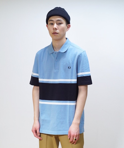 FRED PERRY BOLD STRIPE PIQUE SHIRT