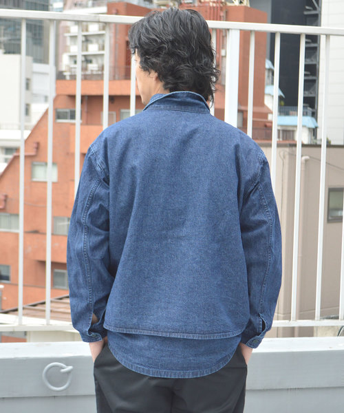 REMI RELIEF/レミレリーフ デニムレイヤードCPOシャツ