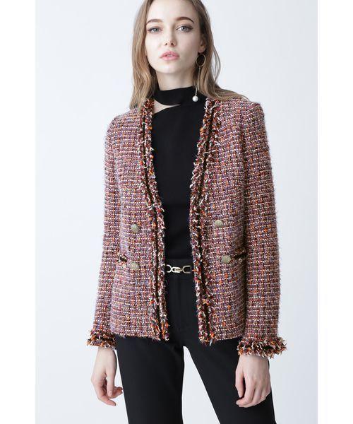 印象のデザイン ◆モールトリミングカラーツイードジャケット(ノーカラージャケット)|PINKY&DIANNE(ピンキーアンドダイアン)のファッション通販, ラブラブ:eea36b8e --- 5613dcaibao.eu.org
