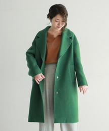 NOMBRE IMPAIR(ノンブルアンペール)の【Fabric in Italy】SERENAツイードロングコート(チェスターコート)