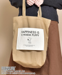 SNOOPY | SVEC × PEANUTS ピーナッツ / スヌーピー SNOOPY シーチング キャンバス ロゴ トートバッグ HAPPINESS IS A WARM PUPPY(トートバッグ)