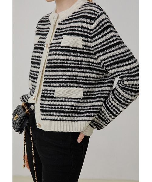 【Fano Studios】【2021AW】Striped knitted cardigan FQ21S097