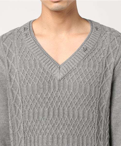 DESTROYED CABLE SWEATER
