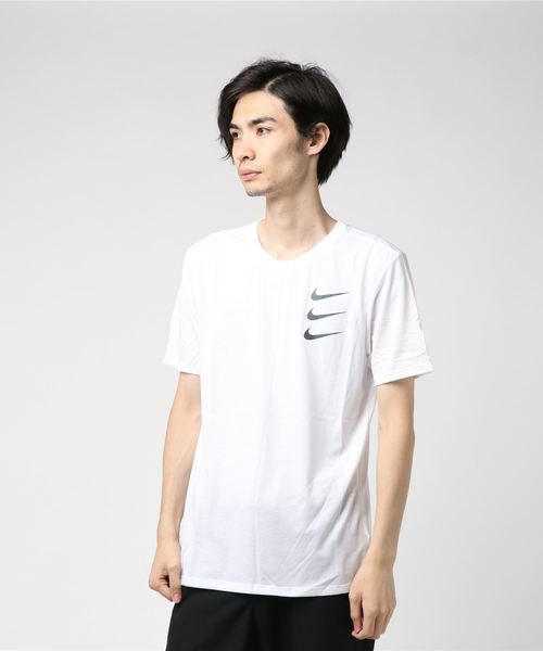 NIKE AS M NK DRY TEE DBL RUN DIVISI (WHITE/GUNSMOKE) 【SP】