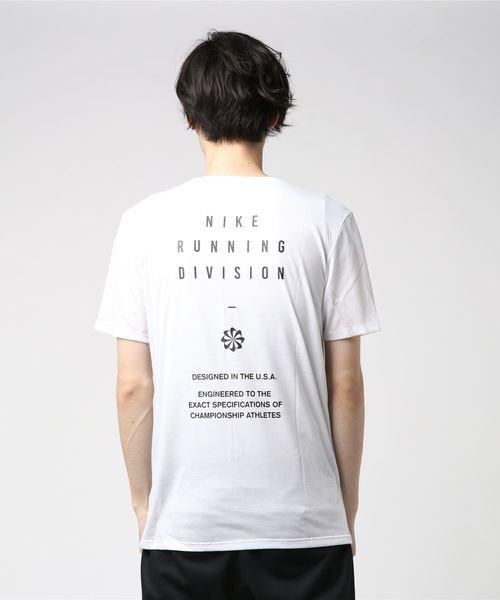 NIKE AS M NK DRY TEE DBL RUN DIVISI (WHITE/GUNSMOKE) 【SP】