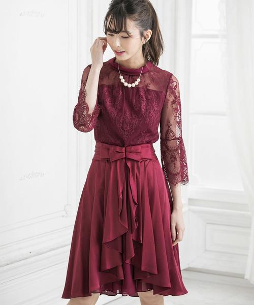 『1年保証』 オーバースカート付き ボトルネックフレアワンピース(ドレス)|form forma(フォルムフォルマ)のファッション通販, 唐桑町:7be86a1e --- rise-of-the-knights.de
