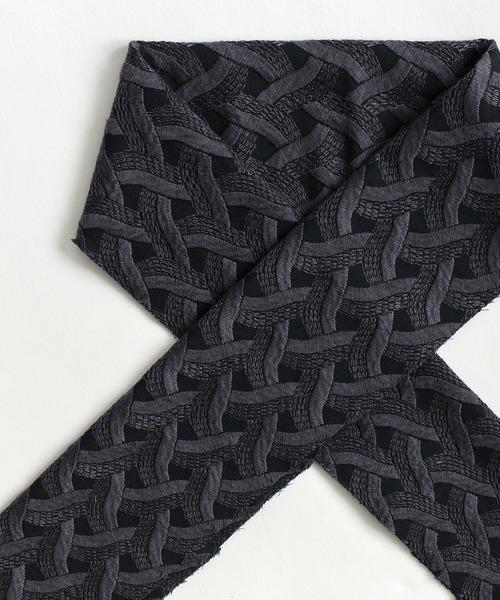 KIMONO MODERN(キモノモダン)の「木綿半衿-MOGA(和装小物)」 ブラック