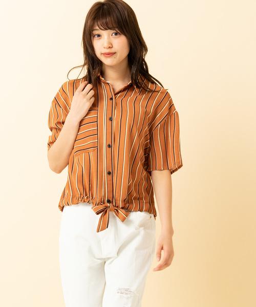 ウエストリボンシャツ