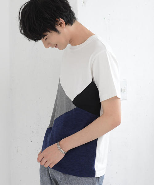 ブロック切替Tシャツ