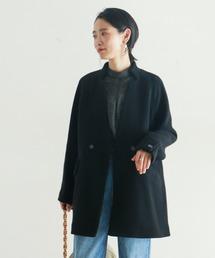 NOMBRE IMPAIR(ノンブルアンペール)の【Fabric in Italy】SERENAツイードミドル丈コート(その他アウター)