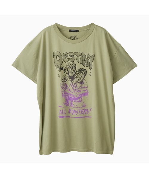 DESTROY ALL MONSTERS/ZOMBIE ATTACK オーバーサイズTシャツ