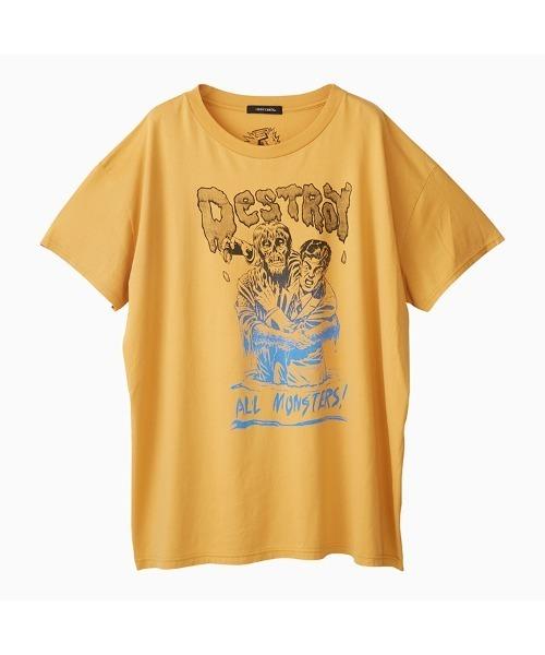 DESTROY ALL MONSTERS/ZOMBIE ATTACK オーバーサイズTシャツ