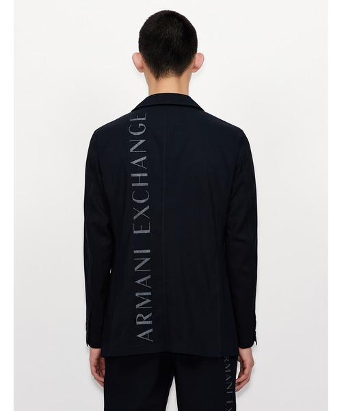【A X アルマーニ エクスチェンジ】バック縦ロゴデザイン テーラードジャケット