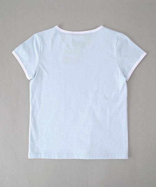 ZIDDY/天竺エリ配色Tシャツ
