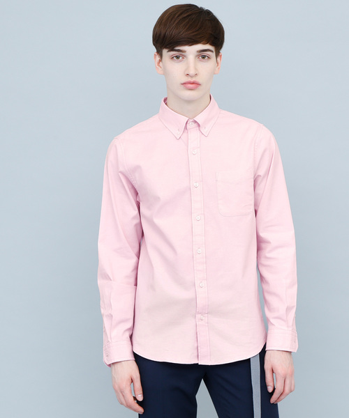 ストレッチオックスボタンダウンL/Sシャツ(Authentic Oxford shirt)