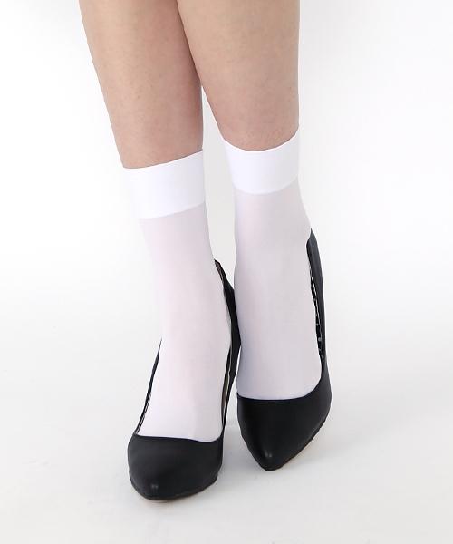 靴下屋(クツシタヤ)の「靴下屋/ 消臭ナイロンソックス 22cm〜25cm(ソックス/靴下)」|ホワイト
