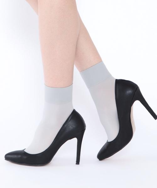 靴下屋(クツシタヤ)の「靴下屋/消臭ナイロンソックス 22cm〜25cm(ソックス/靴下)」|シルバーグレー