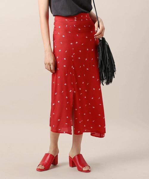 【別注】<SLIC SLIC>フラワープリントスカート ◆