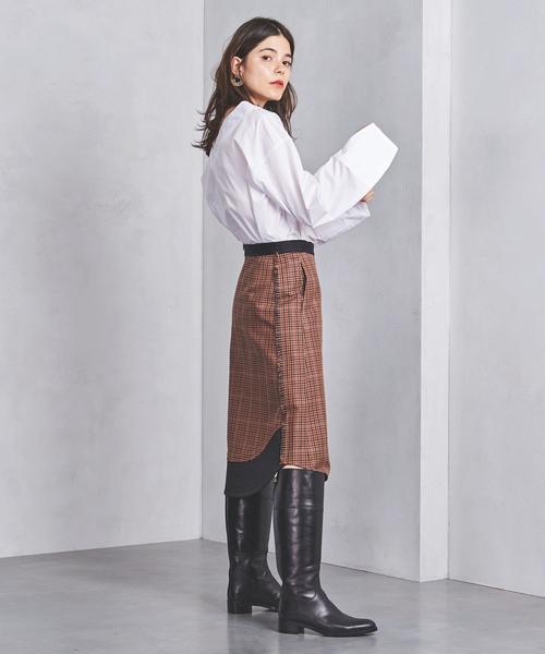 別注<CINOH(チノ)>チェック スカート