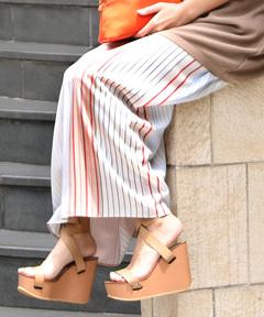 AMERICAN RAG CIE アメリカンラグシー/Multi Stripe Long Skirt マルチストライプロングスカート