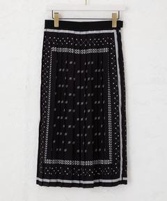 コスチュームナショナル CoSTUME NATIONAL / スカーフプリーツスカート