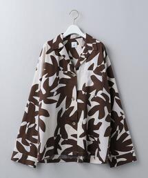 <6(ROKU)>LEAF PRINT SHIRT/シャツ
