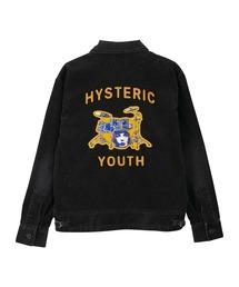 HYSTERIC YOUTH刺繍 カレッジシャツチャコールグレー