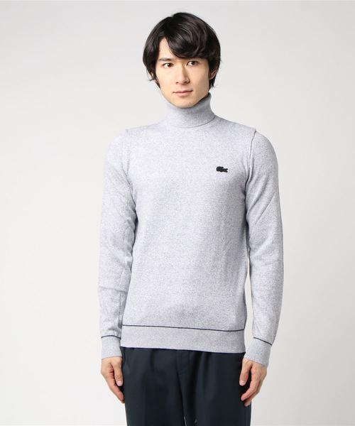 カシミア混タートルネックセーター