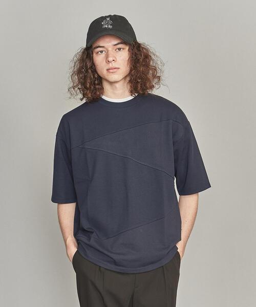 BY コンビファブリック パネル Tシャツ