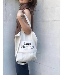 Lara Flamingo(ララフラミンゴ)のLaraロゴトートバッグ(トートバッグ)