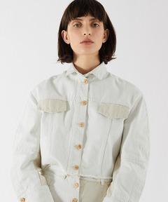 エアロン AERON / ナチュラル ツートーン クロップドジャケット