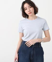 接触冷感シンプルクルーネックTシャツ