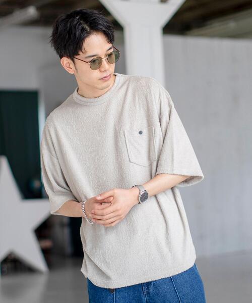 パイルリラックスポケットTシャツ