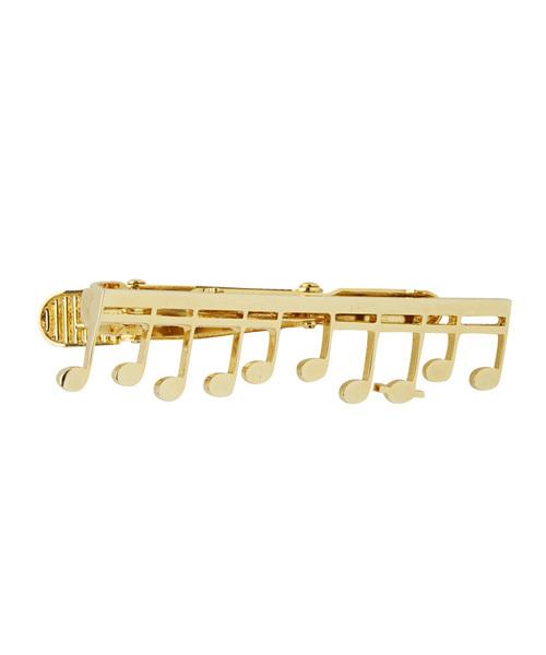 ミュージックノートタイピン GOLD