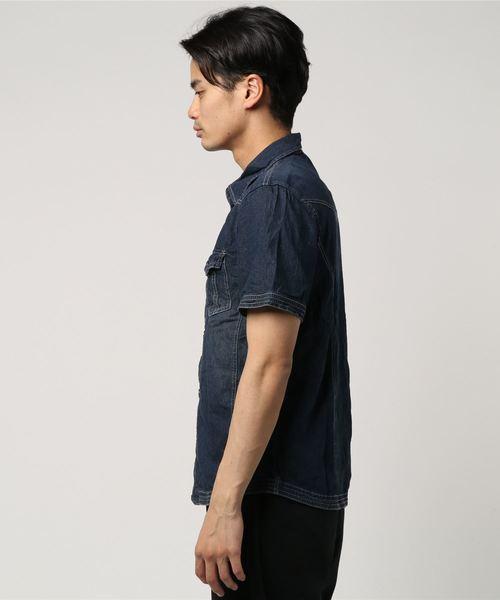 デニムウエスタンシャツ 半袖 AIM
