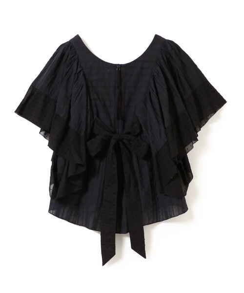 maturely / Cut Dobby Butterfly Tunic