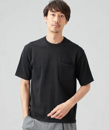 CM 天竺 クルーネック ポケット T / ニットTシャツ <機能性生地 / 吸水速乾・汗消臭>