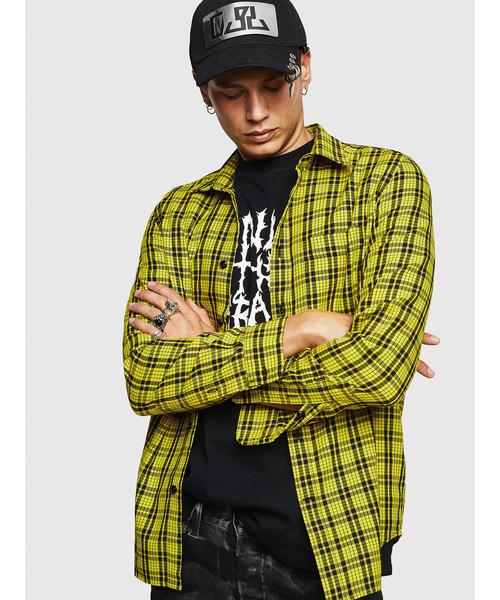上品なスタイル メンズ シャツ バックプリントチェックシャツ(シャツ DIESEL/ブラウス) シャツ DIESEL(ディーゼル)のファッション通販, ベビー キッズ28:c9f95830 --- tsuburaya.azurewebsites.net